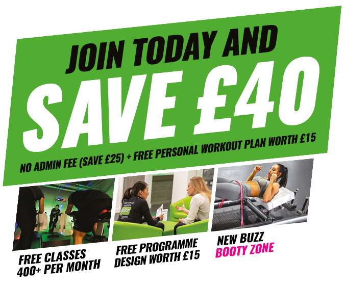 Buzz Gym Save £40 Offer